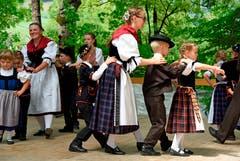 Kindertanzgruppe Alpnach. (Bild: Robert Hess (Alpnach, 15. Juli 2018))