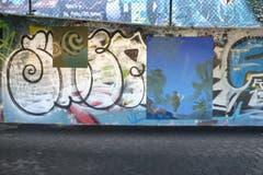 Dieillusionistischen Ölmalereien des Luzerner Künstlers Raphael Egli über Graffiti-Arbeiten auf Beton am Kunstfestival Kraut 2017. (Bild: Kunstfestival Kraut/PD)