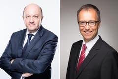 Neue Gesichter bei Raiffeisen: Der 55-jährige Rolf Walker und der 52-jährige Thomas Rauber stossen neu zum Verwaltungsrat.