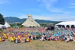 Während der «Big Point»-Veranstaltungen treffen sich alle rund 2000 Kinder und Jugendliche auf dem Hauptlagerplatz. (Bild: PD)