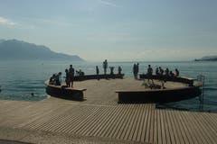 Freihängender Kreisel direkt am Quai montiert. (Bild: Josef Müller)