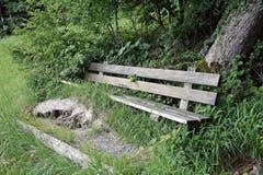 Rund 150 Meter sind es von der Passhöhe Chogelhuet bis zum Bänkli beim Wartwald. (Bild: Beat Lanzendorfer)