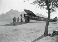 1934 lieferte Walter Mittelholzer mit seiner Crew eine ausgediente Swissair-Maschine an Kaiser Haile Selassie von Abessinien persönlich nach Addis Abeba aus