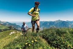 Rennen in den Bergen ist schön, aber speziell: Anfängern sei geraten, sich erst mal an die Höhe zu gewöhnen, sonst geht einem schnell die Puste aus. (Bild: Marc Daviet)