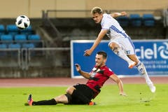 Lausannes Mersim Asllani erzielt das 1:1. (Bild: Pascal Muller/freshfocus)