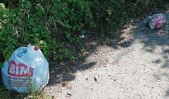 Die Autos ohne Kennzeichen, die auf öffentlichen Parkplätzen von Gesetzes wegen nicht abgestellt werden dürften, sind mittlerweile verschwunden. Die Abfälle aber sind noch immer dort. (Bild: Bilder: Kurt Latzer)