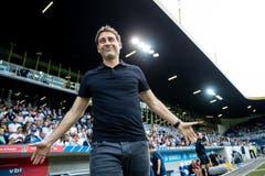 Luzerns-Trainer René Weiler beim ersten Auftritt in der Arena. Bild: Philipp Schmidli (Luzern, 21. Juli 2018)