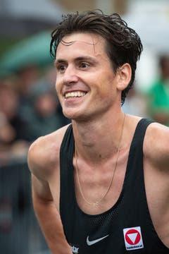 Ein glücklicher Sieger Valentin Pfeil. (Bild: Christian H. Hildebrand (Oberägeri, 20. Juli 2018))