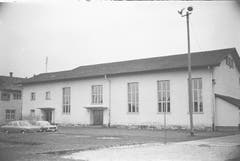 Die Turnhalle Grof im November 1971. (Bild: Bilder: Archiv Hansruedi Rohrer)