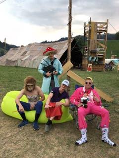 """Die """"Wüstensöhne"""" der Pfadi Wartensee Neuenkirch gönnen sich im Kantonslager in Escholzmatt ein Päuschen. (Lagerbild: Cuddle, Escholzmatt 23. Juli 2018)"""