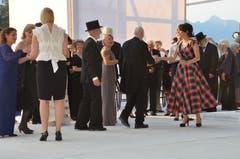 Am Montag fand die erste Probe der Oper La Traviata auf der Bühne am Werdenbergersee statt. (Bilder: Katharina Rutz)