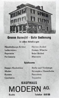 Das Kaufhaus Modern AG wurde 1929 eröffnet.