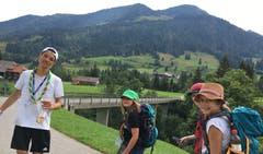 Die Wölfli der Pfadi Seppel Luzern auf der Wanderung. (Lagerbild: Leonie Hofer, Rischli 25. Juli 2018)