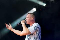E.K.R. bei seinem Auftritt am Rapattack-Festival. (Bild:André A.Niederberger (Sarnen, 28.Juli 2018))
