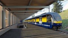 Neuer Bahnhof bei der Rothenegg (Visualisierung: PD)