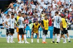 Die Argentinier scheiden gegen Frankreich aus. (Bild: AP Photo/David Vincent, Kazan, 30. Juni 2018)