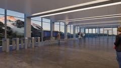 Panoramahalle beim Eigergletscher (Visualisierung: PD)