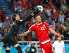 Sommer im Spiel gegen Serbien. (Bild: Keystone)