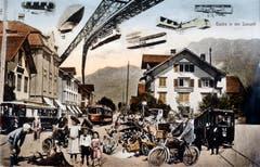 Buchs in noch späterer Zukunft? Ein Illustrator hat es um das Jahr 1920 jedenfalls so gesehen. Bilder: Archiv Hansruedi Rohrer