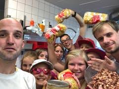 Was die Küche des Sommerlagers Reiden wohl zubereiten wird? Unser Tipp: Alplermagronen! (Lagerbild: Tim Luternauer, Reiden 29. Juli 2018)