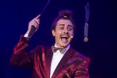Ein Jongleur darf in einem Zirkus nicht fehlen: Coperlin alias Dustin Nicolodi (Bild: Melanie Duchene / Keystone (Rapperswil, 15. März 2018))