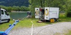 210 Kubikmeter Schlamm wurden aus dem See zu Tage gefördert.