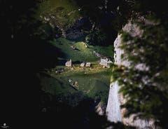 Geniales Spotlicht auf die Meglisalp. (Bild: Nicolas Giovanettoni)