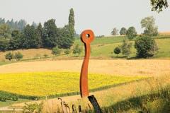 Kunst am Schlossberg: Wächter übers Tal. (Bild: Irene Wanner)