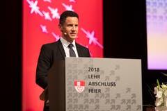 Der Obwaldner Bildungs- und Kulturdirektor Christian Schäli bei seiner Festansprache.(Bild: Roger Zbinden, (Sarnen, 7. Juli 2018))