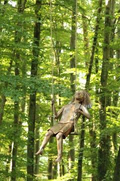 In luftiger Höhe (Kunst am Schlossberg). (Bild: Irene Wanner)