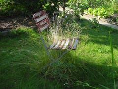 Stillleben mit Gartenstuhl. (Bild: im Rolf Schai)