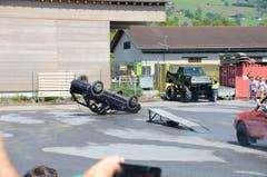 Impressionen von der «Hollywood Stunt & Action Show» (Bild: Martin Uebelhart (Sarnen, 8. Juli 2018))