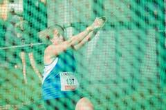Für einen Schweizer Rekord zeichnete im Hammerwurf der Frauen Nicole Zihlmann verantwortlich. (Bild: Urs Flüeler / Keystone (Luzern, 9. Juli 2018))