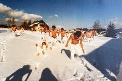 Ausbildung im Schnee, Teil 2. (Bild: Michel Canonica/Privatarchiv Beat Cina)