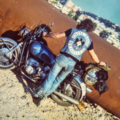 Blacky posiert, Teil 3, hier in Nizza ca. 1974. (Bild: Michel Canonica/Privatarchiv Beat Cina)