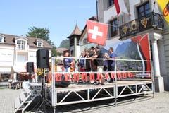 Die Glarner Band Rämlers sorgte für die musikalische Unterhaltung an der Bundesfeier in Altdorf. (Bild: Carmen Epp (Altdorf, 1. August 2018))