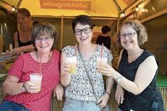 Das brasilianische Nationalgetränk Caipirinha hat es Katrin Hasenfratz, Judith Allemann und Barbara Knup angetan.