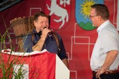 1. August Rede in Sarnen mit Obwaldner Trachtechörli und Hanspeter Müller-Drosaart (Bild: Izedin Arnautovic (Sarnen, 01. August 2018))