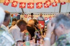 Bundesrat Johann Schneider-Ammann bei seiner Ansprache. (Bild Keystone/Urs Flüeler, 31. Juli 2018)