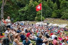Viele feierten den 1. August auf dem Rütli. (Bild: Philipp Schmidli/LZ)