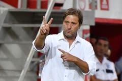 Trainer Pedro Martins (Piräus). (Bild: Martin Meienberger, Piräus, 9. August 2018)