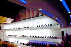 Blick auf die Etagen im Konzertsaal KKL (Bild: PD)