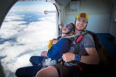 Lachend - hoch über den Wolken. (Bild: Ralph Ribi)