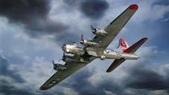 Eine B-17G Flying Fortress, die den Zweiten Weltkrieg überlebt hat und heute noch an Flugtagen in der Luft zu bestaunen ist. (Bild: Sammlung Reto Voneschen)