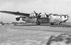 «This is it!» Ein B-24 Liberator einer späteren Version. Die Maschine flog von Grossbritannien aus Angriffe auf Ziele auf dem europäischen Festland. (Bild: US Air Force)