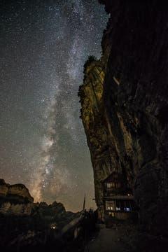 Wunderschöne Sternennacht im Alpstein mit Milchstrasse. (Bild: Roman Jäger)