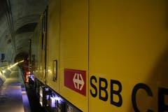 13 solcher Fahrzeuge sorgen für den optimalen Unterhalt des Gotthard-Basistunnels. (Bild: Carmen Epp, 13. August 2018)