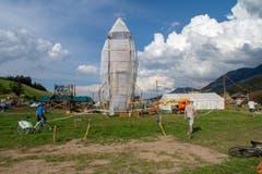 Die Rakete im «LUpiter18» ist startklar. (Bild: Dimitri Gwinner v/o Sherpa)