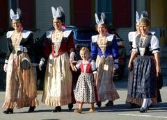 Vor dem Gottesdienst an der Maria Himmelfahrt in Gonten AI (Bild: Hans Adelmann)