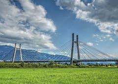 Rheinbrücke bei Diepoldsau. (Bild: Toni Sieber)